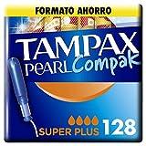 Tampax Pearl Compak Super Plus, Tampón con aplicador, ofrece comodidad, protección y discreción,...