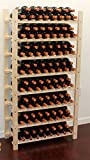 Stackable Wine Storage Rack, Wooden Stand, (120 Bottles Capacity: 8 rows)