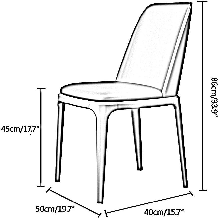 Bseack Chaise à dîner en Chambre en Cuir PU Tissu Chaise Ergonomique Fer Forgé Cadre de négociation Accueil Retour Haut Lounge Chair Restaurant Chambre (Color : Khaki) Pink