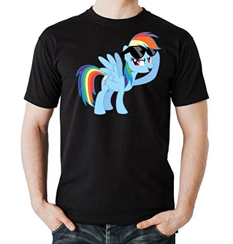Certified Freak Rainbow Pony T-Shirt Black L