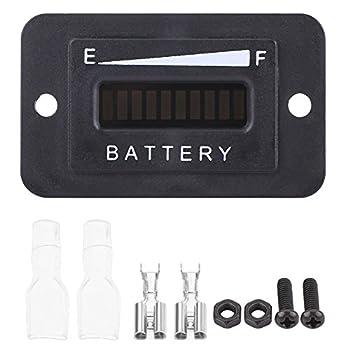 Led Digital Battery Indicator Meter Gauge Golf Cart 12V/24V/36V/48V Battery Gauge for Golf Cart with Hour Meter BI001-12/24V