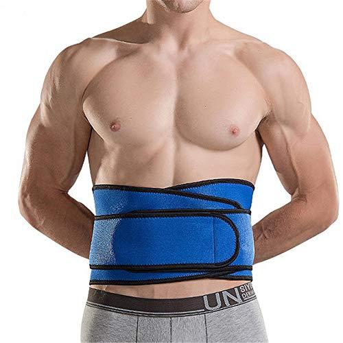 Moldeador de cuerpo de reloj de arena For hombre alto estiramiento de la cintura Trainer cinturones de apoyo de alta elasticidad aptitud del deporte talladora del cuerpo del vientre Cinturón Ayuda Bac