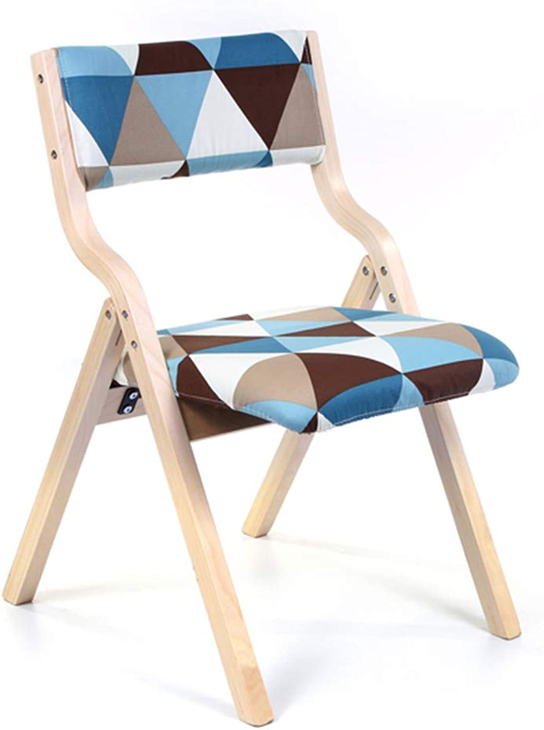 DQMSB Solid Wood Folding Chair, Modern Portable Washable Backrest Chair Lounge Chair Chair (color   B)