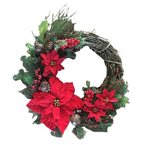Kerst kransen dennen en strik goud kunstmatige slinger deur opknoping decoratieve benodigdheden voor kerst partij decoratie