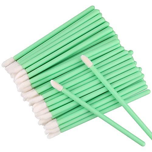 G2PLUS 200PCS Pinceaux Lèvre Jetables Lèvres Pinceaux,Brosse à Lèvres Jetable Applicateur Levre Lip Brush Parfait Outil de Maquillage Kits,Vert