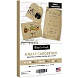 Brown Kraft Cardstock Paper, Heavyweight 11 x 17' Card Stock for Business Greeting Cards & Invitations, Gift Tags, Art & Crafts and More! | 80lb (216gsm) Cover | 25 per Pack