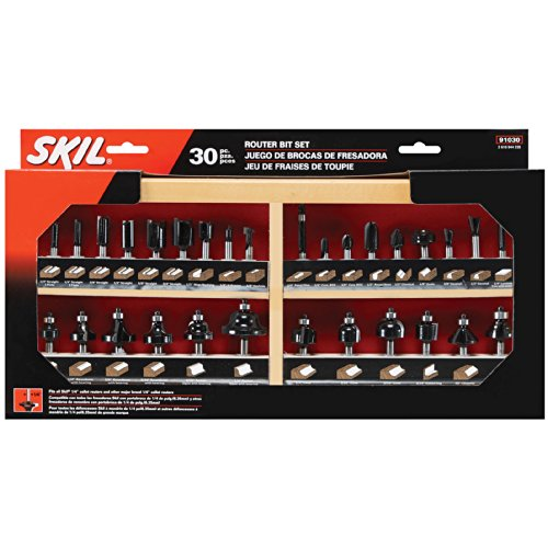 SKIL 91030 Carbide Router Bit Set