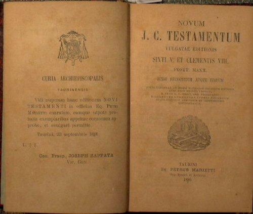 Novum j.c. testamentum vulgatae editionis sixti V. et Clementis VIII : Pontt. Maxx. Jussu recognitum atque editum