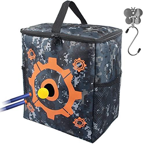 AMOSTING Zielscheibe für Nerf mit 2 Haken, Tragbare Tasche für Nerf Zubehör, Multifunktionale Spielzeugtasche für N-Elite/Fortnite/Rival/Zombie/Modulus/Mega Serien