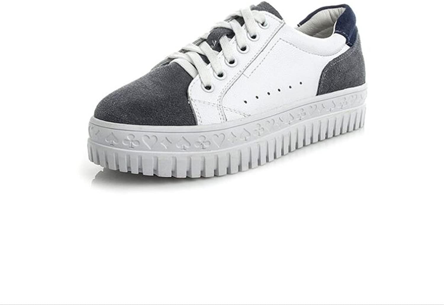 Exing Women's shoes Fall Winter New Leather Ladies shoes,Rounded Toe shoes Low-Top Breathable Deck shoes,Casual Lazy shoes