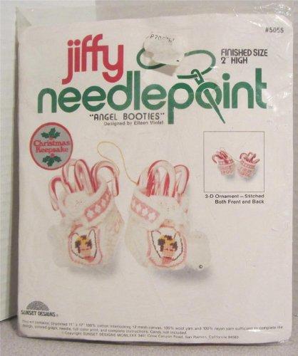 Angel Booties - Jiffy Needlepoint 3-D Ornament Kit #5055