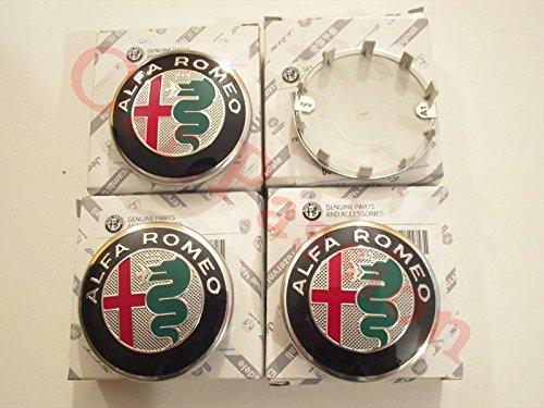 Alfa Romeo 4 COPRIMOZZO Giulietta 159 Brera Originali Cerchi in Lega Nuovo Logo 2016