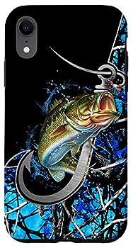 iPhone XR Bass blue fishing personalized gift camo fishing tattoo Case