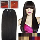 100% Virgin Brazilian Remy Human Hair Extensions - Weave Hair - 14' Straight by PRISTINE HAIR