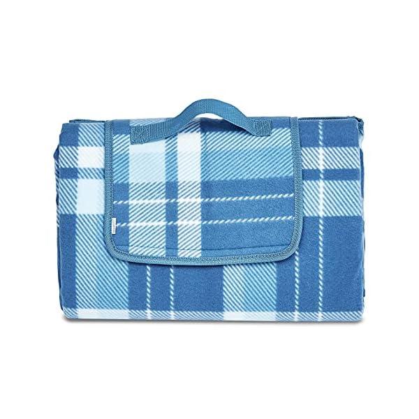 Amazon Basics Picnic Blanket with waterproof backing, 150 x 195 cm
