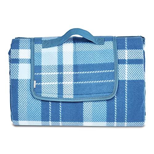 AmazonBasics - Manta para pícnic con base impermeable, 150 x 195 cm