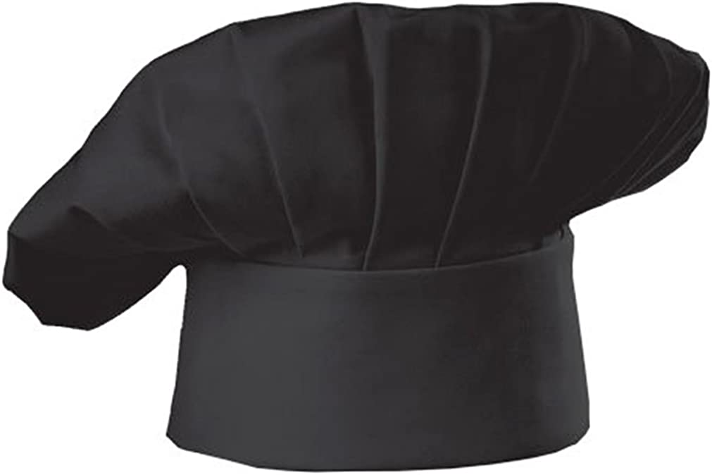 Hyzrz Set of 3 Pack Adult Chef Hat Adult Adjustable Elastic Baker Kitchen Cooking Chef Cap 3 Pieces (Black): Clothing