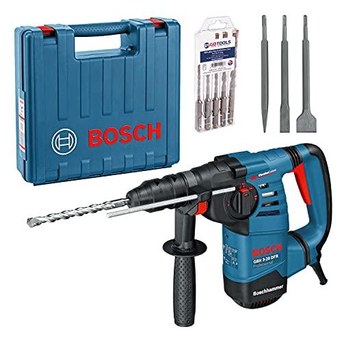 Bosch Bohrhammer GBH 3-28 DFR + Hammerbohrer-Set 5tlg. + Meisselset 3tlg.