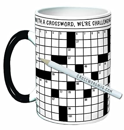 Gifts for the crossword puzzle fan 12 gift ideas for the crossword puzzle mug with monthly puzzles negle Images