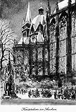 Kunstverlag Christoph Falk Einfarbige Radierung Aachen, Kaiserdom als Loses Blatt -