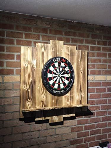 WDS Darts Sports Holz Surround, Burned - 6