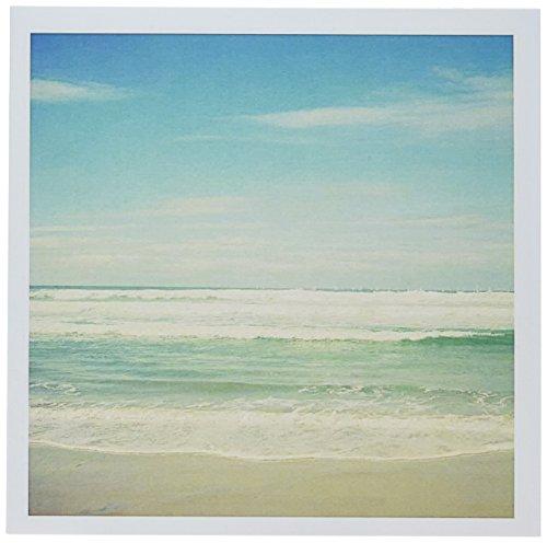 "3dRose Gentle Ocean Waves Beach Theme Art - Greeting Cards, 6 x 6"", Set of 6 (gc_164479_1)"