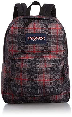 JanSport Superbreak Backpack - (RED TAPE KNIT PLAID) Limited Edition