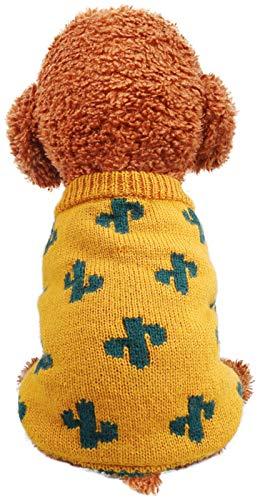 Ciepły żakiet psa zimowe psy skoczkowe ciepłe sweter odzież odzież dla małych dużych dużych psów (Color : Yellow, Size : M)