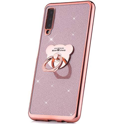 JAWSEU Brillante Brillo Funda Compatible Samsung Galaxy