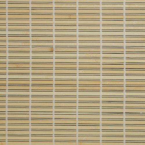Liedeco Rollo Holz mit Seitenzug, Holzrollo für Fenster und Tür natur, 100 cm x 170 cm (B x L)