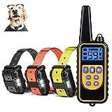 JJOBS Collar de Adiestramiento para Perros, 300M con 4 Modos, Impermeable y Recargable para 3 Perros