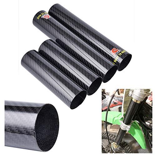 Delantero de absorción de tenedor de choque de fibra de carbono de moto protector para bicicleta de saltad de repuesto para RM-Z250 450 KTM 250450 EXC Dirt Bike