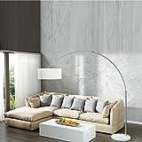 Extenso Lampada ad arco, design esclusivo, bianca, lampada a stelo con base bianca