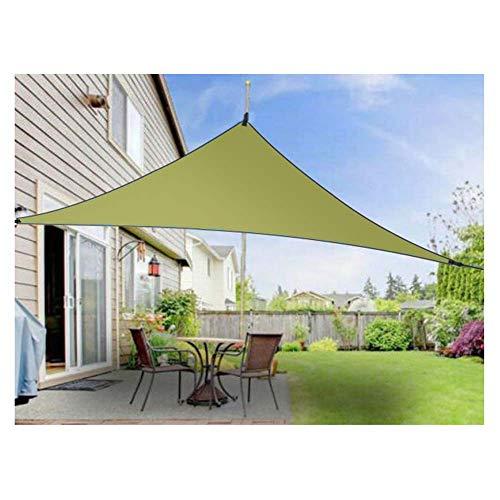 WYJJ Triángulo Anti-UV Sun Shade Sail Screen Shelter Toldo Gazebo Canopy Pérgola Patio al Aire Libre Fiesta Protector Solar Canopy Sunsail Grueso 3x3x3m Verde