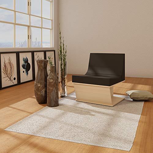 LEVIRA Home Alfombra Salón y para habitación Rectangular, 140 x 200 cm - Gris