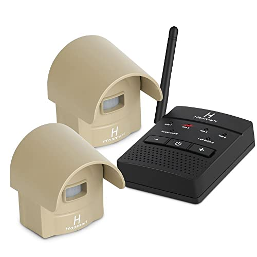 1/4 Mile Long Range Hosmart Rechargable Wireless Driveway Alarm System & Driveway Alert System