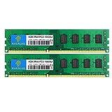 Rasalas 8GB Kit (2x4GB) PC3-10600 DDR3-1333 PC3 10600U Ram DDR3 2Rx8 PC3-10600U 1333 MHz DDR3 1.5V CL9 240-pin Memory Module Upgrade for Desktop