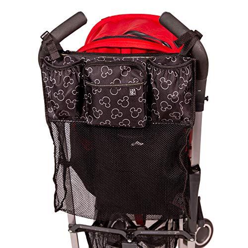 Disney Baby by J.L. Childress Cups 'N Cargo Universal Stroller Organizer & Accessory, Mickey Black