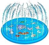 Divertente giocattolo d'acqua estivo: questo irrigatore ha una piscina in cablaggio e anello spray.Acqua divertente gioca mat per te e i tuoi bambini in estate, ti danno una bella estate. Installazione e uso facile: collegare la valvola di ingresso a...