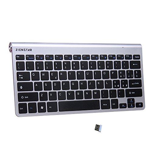 Zienstar -2.4Ghz Tastiera Senza Fili con Ricevitore USB per Windows/iOS/Linux e Android Smart TV -Italiano Layout (G03 Nero)