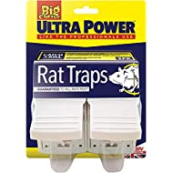 STV International 2 X Ultra Power Rat Traps Ready Baited, Easy to Set, Twin Pack