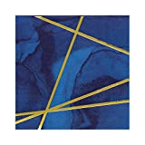 Papier Marine Bleu et or Feuille Creative Converting 343976 Boisson Serviette