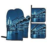 FAKAINU Guantes y agarraderas para Horno, Millennium Bridge y la Catedral de San Pablo en Londres...