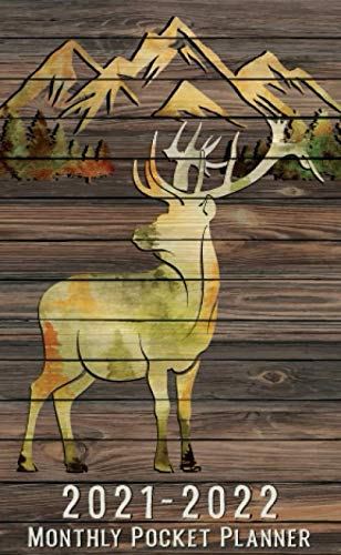 2021-2022 Two Year Pocket Planner : 2 Year Monthly Planner | 24 Months Calendar, Schedule Organizer, Wildlife Diary, Holidays, Habit & Mood Tracker, ... Adventure - Watercolor Deer Wooden Wall