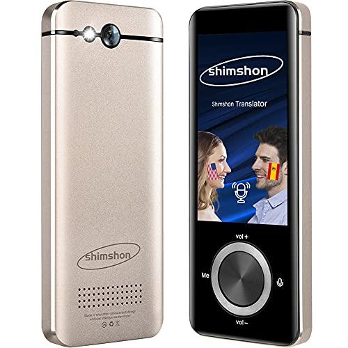 Language Translator Device Photo Translation Offline Translator 109 Languages Smart Translation in 0.5 Second Portable Two-Way Voice Interpreter | WiFi | Bluetooth