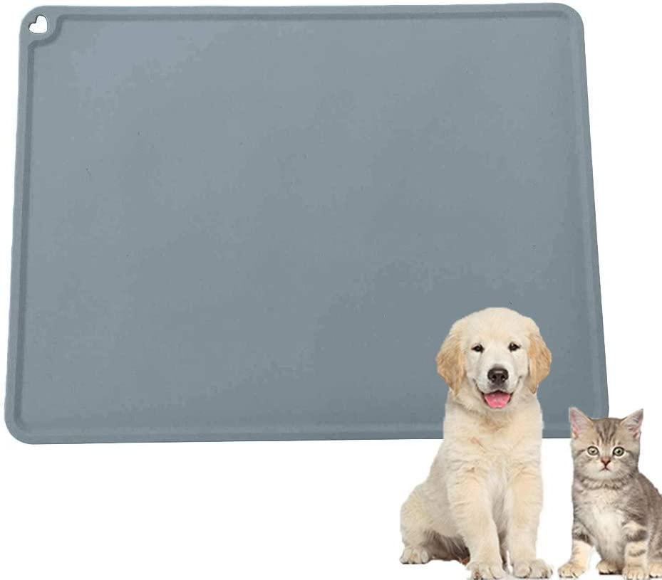 High material XXDYF Pet Silicone Place-Mat Non-Slip Fe Waterproof Dog Discount mail order Cat