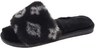 Zapatillas De Mujer Zapatillas De Otoño E Invierno Zapatillas De Felpa Cálidas Zapatillas De Suelo para Interior