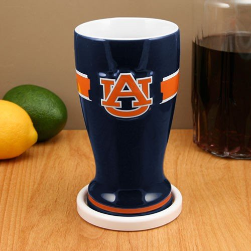 Auburn Tigers NCAA Ceramic 16 Ounce Pilsner Glass