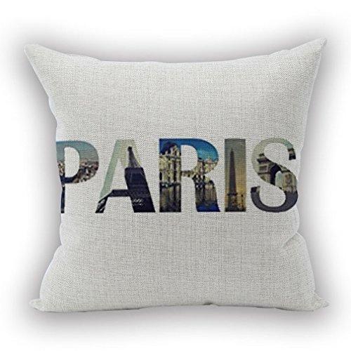 Nunubee housse coussin coussin decoration canapé deco canapé scandinave deco, 0 lettres PARIS 45x45CM