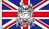 British Bulldog Official Hooligan Union Jack Football 5'x3' (150cm x 90cm) Flag